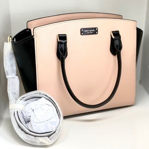 KATE SPADE NY♨️NWT♨️TWO-TONE LEATHER SATCHEL